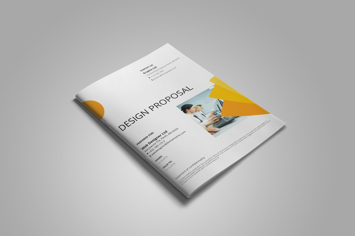 professional business proposal template word