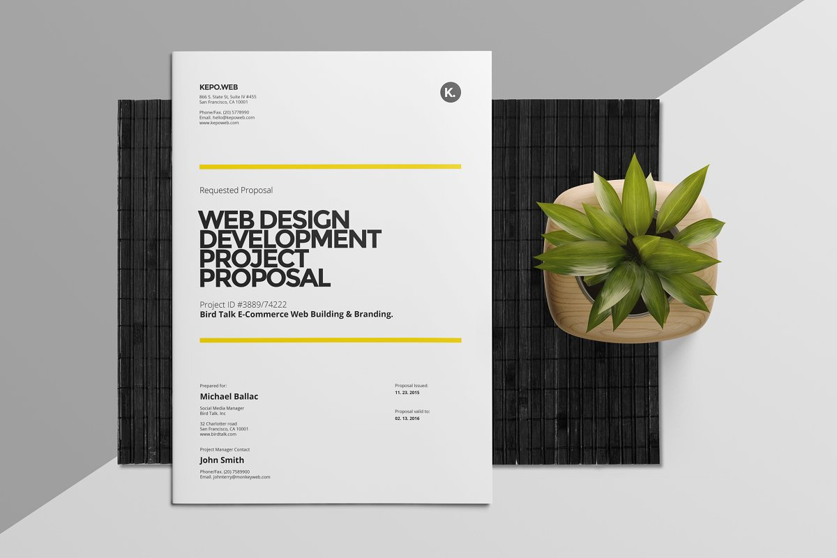 web design business proposal template word