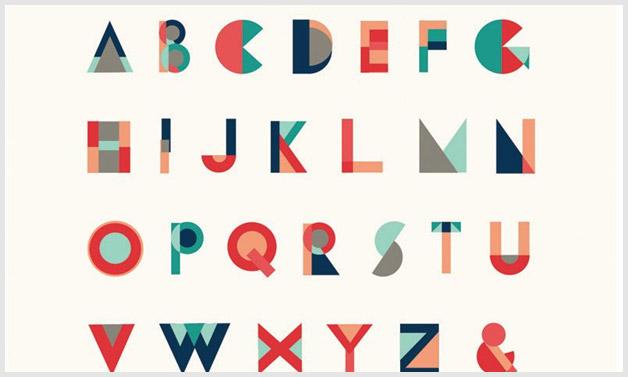 Geometrical typography trends