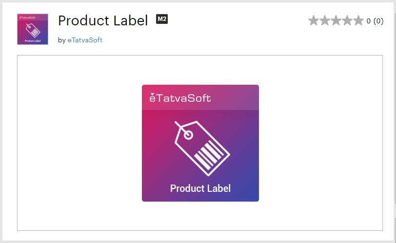 Product Label extension for Magento-2