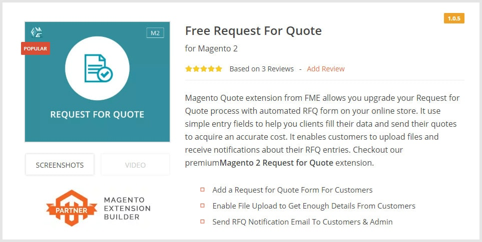 Request for Quote Free Magento 2 Extensions