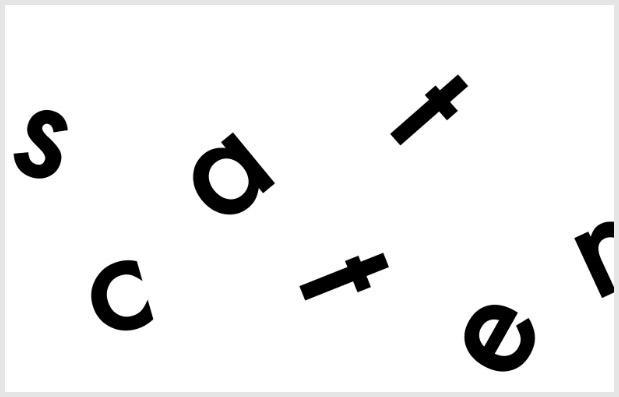 scatter typographic trends