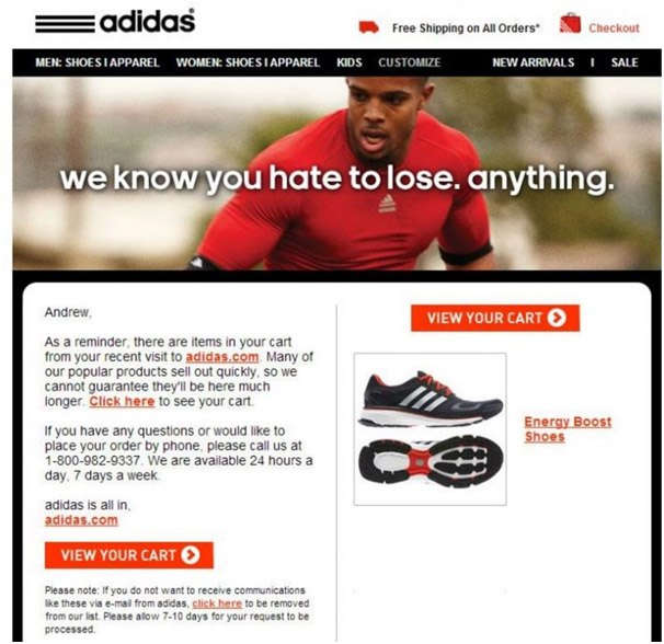 Best Abandoned Cart Email examples to contact emotionally