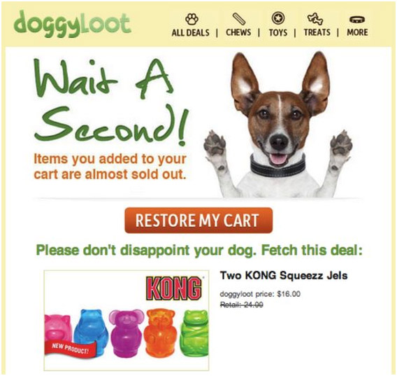 Best abandoned cart email template example to get attention
