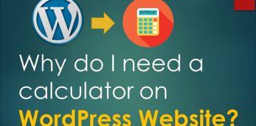 Calculator on WordPress Website