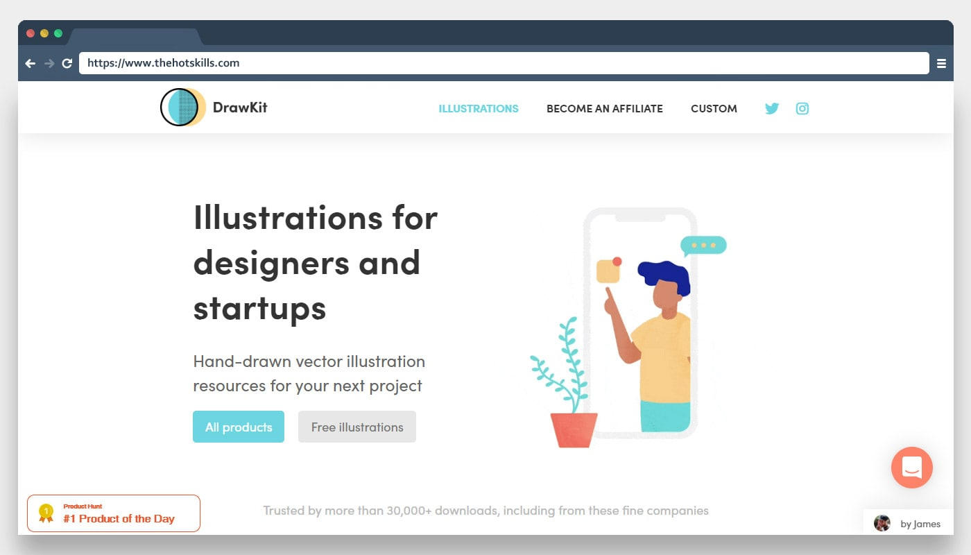 DrawKit Illustrations for designers and startups