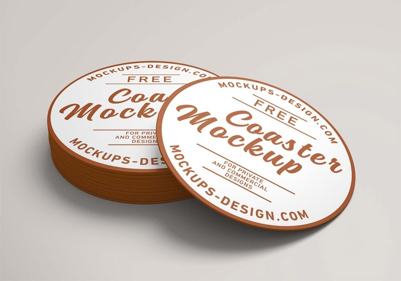 Free Round Coaster Mockup (PSD)
