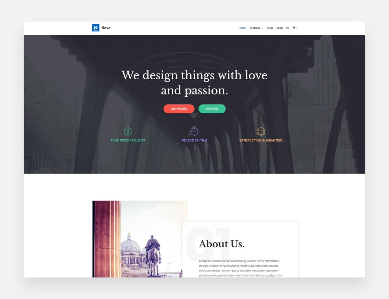 Neve Free WordPress Themes for Writers