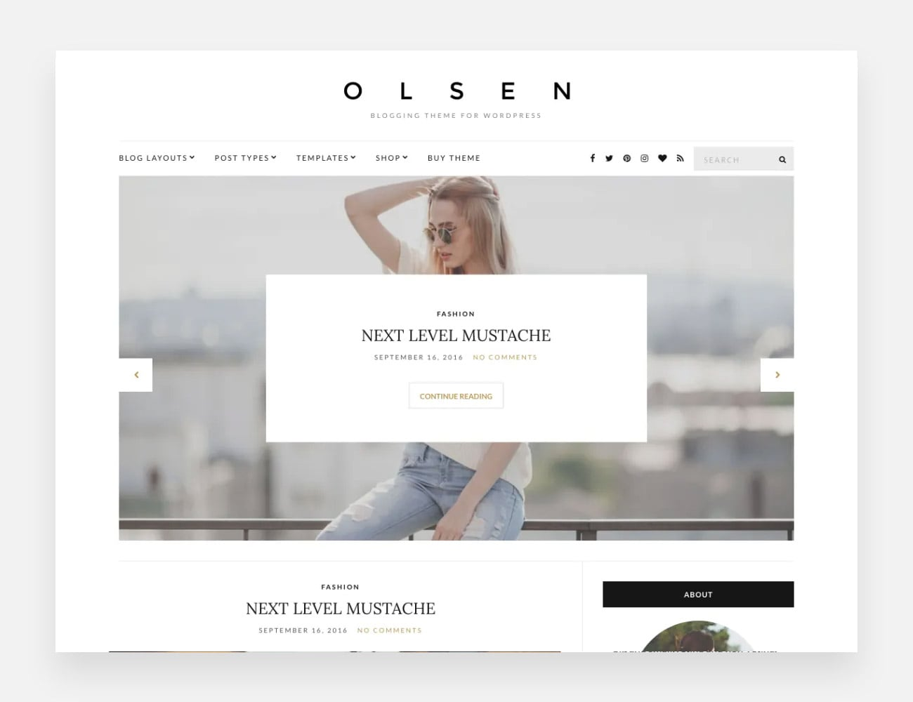 Olsen-Light Free WordPress Themes for Writers