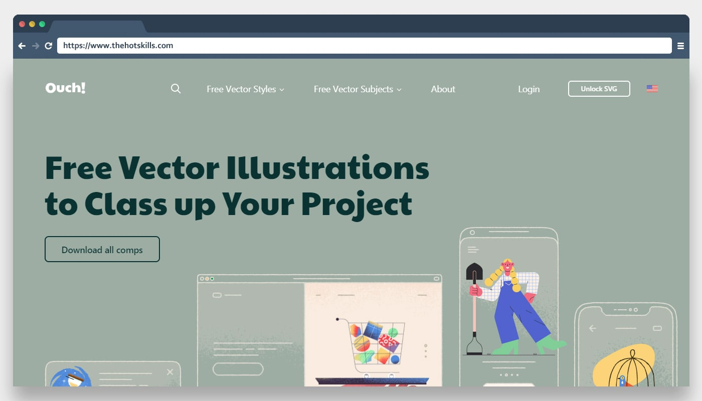 Ouch Free Vector Illustrations