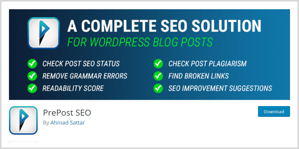 PrePost SEO WordPress Plugin
