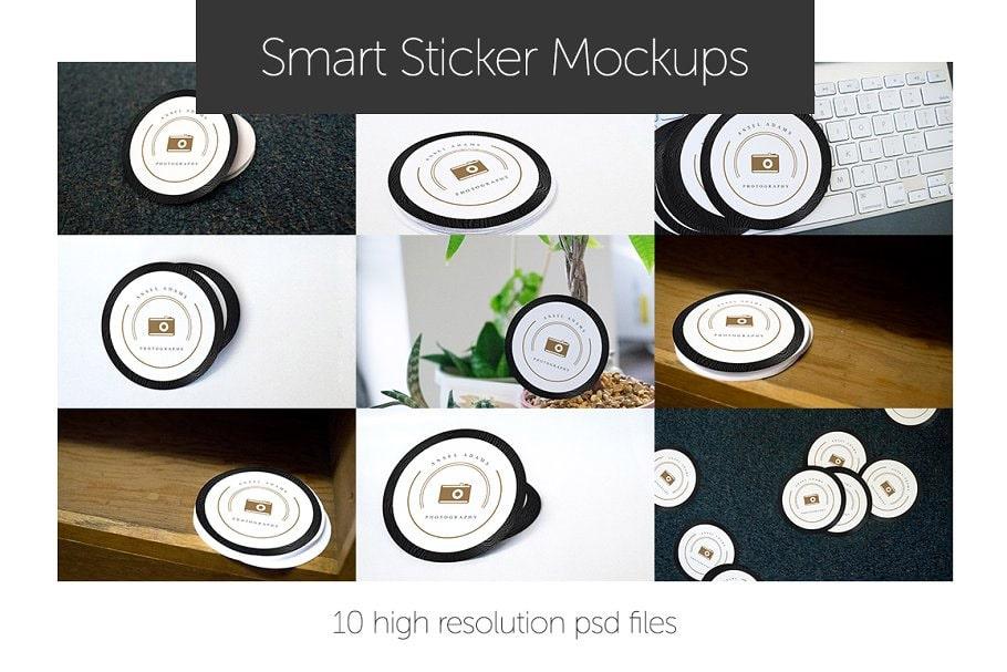 Sticker Mockups Smart Art