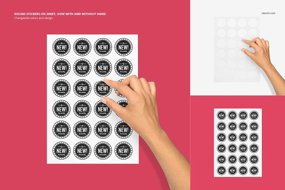 Stickers Mockup Set