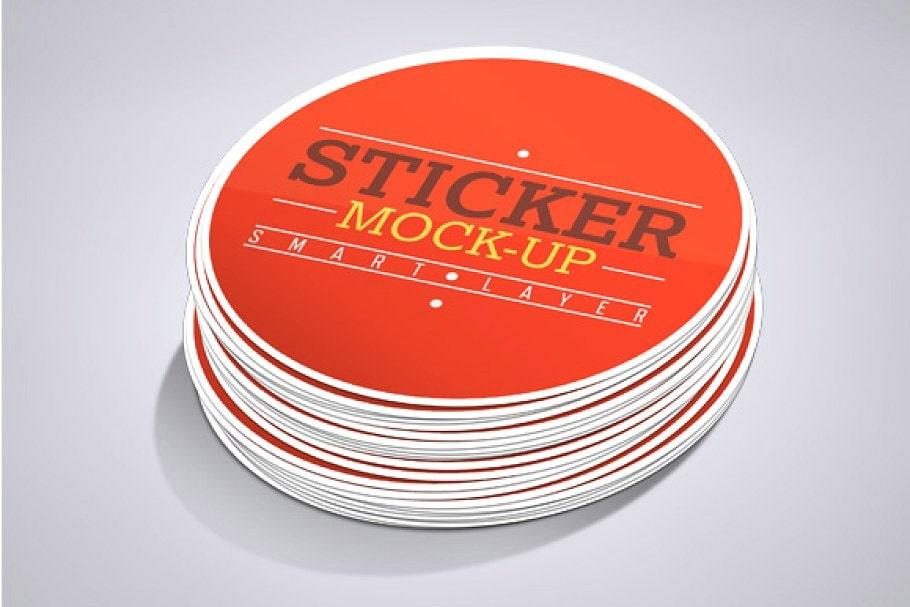 Stickers Mockup by Mockupbank