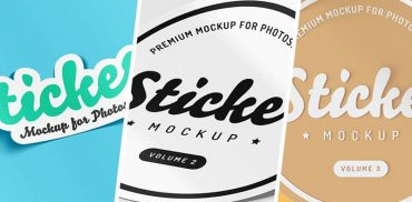 Best Sticker Mockup PSD (Free + Premium) for Branding in 2020